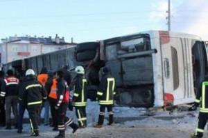 Թուրքիայի Քոնյա նահանգում դպրոցականներ տեղափոխող ավտոբուս է շրջվել