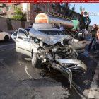 Ոստիկանության շենքի մոտ «Մերսեդեսը» բախվել է սպիրտ տեղափոխող բեռնատարին. կան վիրավորներ (ֆոտո)