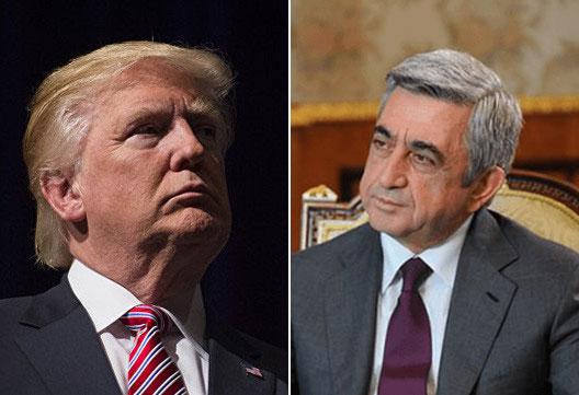 Սերժ Սարգսյանը ցավակցական հեռագիր է հղել ԱՄՆ նախագահ Դոնալդ Թրամփին