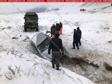 Ավտովթար Ապարան-Նիգավան ավտոճանապարհին. մեքենան ընկել է ձորը