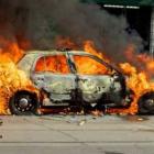 Կապանում մեքենա է այրվել