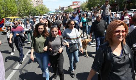 Երևանում մեկնարկել է բողոքի ակցիան (ուղիղ)