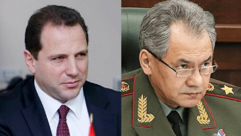 Դավիթ Տոնոյանը ՌԴ ՊՆ Սերգեյ Շոյգուին ներկայացրել է Նախիջևանյան ուղղությամբ տիրող իրավիճակը