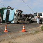 Արագածոտնում բախվել են Toyota Land Cruiser-ը, Daewoo-ն և քարով բարձված ЗиЛ-ը․ վերջինը կողաշրջվել է