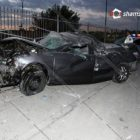 Երևանում Toyota-ն բախվել է ՃՈ պահակետի պատին և հայտնվել ներսում. Վարորդն ու ուղևորը սթափ չեն եղել (լուսանկար)