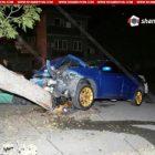 Կասկադյորական վթար Երևանում. վարորդը մեքենայով տապալել է հաստաբուն ծառը (լուսանկարներ)