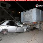 Ոստիկանության զորքերի 22-ամյա ծառայողը վթարի է ենթարկվել (լուսանկարներ)