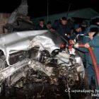 Եղվարդի խճուղում բախվել են 5 մեքենաներ. երեք մարդ տեղափոխվել է հիվանդանոց