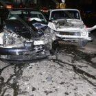 Խոշոր վթար Երեւանում. բախվել են «Նիվա»-ն ու Nissan Tiida-ն. կան վիրավորներ