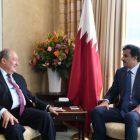 Արմեն Սարգսյանը հանդիպել է Կատարի էմիրի հետ. քննարկել են ջրային պաշարների կառավարման հարցը