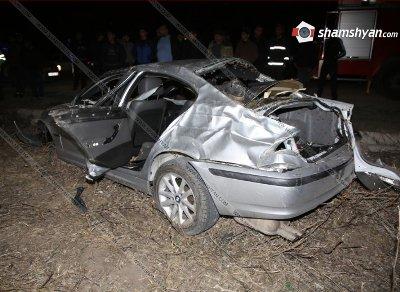 Արմավիրում BMW-ն մի քանի պտույտ շրջվել է ու հայտնվել է դաշտում. Վարորդի դին գտել են 20 մետր հեռու. կա վիրավոր