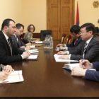 Վահե Էնֆիաջյանն ու Ղազախստանի դեսպանը քննարկել են հայ-ղազախական համագործակցության ընդլայնմանն առնչվող հարցեր