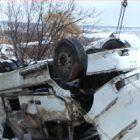 20 տոննա սոխով բարձված բեռնատարը շրջվել ընկել է ձորը․ խոշոր վթար Արագածոտնում