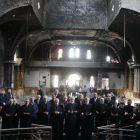 Արամ. Ա կաթողիկոսն այցելել է Հալեպում հրկիզված հայկական եկեղեցին