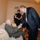 Արմեն Սարգսյանը հյուրընկալվել է Հայրենական պատերազմի վետերան Միկիտ Ամիրյանի տանը