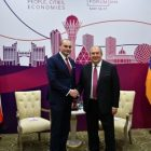 Հայ-վրացական հարաբերությունները զարգացման մեծ ներուժ ունեն. ՀՀ նախագահը հանդիպել է Վրաստանի վարչապետ հետ