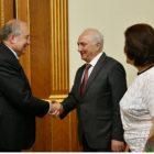 Արմեն Սարգսյանը հյուրընկալել է Հայաստանի Դեմոկրատական կուսակցության ներկայացուցիչներին