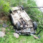 Ավանում մեքենան շրջվել է՝ հայտնվելով գերեզմանատան տարածքում. վարորդը հոսպիտալացվել է