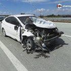 Ավտովթարի է ենթարկվել Լուսառատի գյուղապետը․ բախումից հետո գյուղապետի Hyundai-ին տապալել է արգելապատնեշը