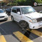 Շղթայական վթար Երեւանում․ Mitsubishi-ն բախվել է Mercedes-ին, Land Rover-ին, Toyota-ին եւ 2 Opel-ներին