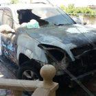 Արարատի մարզում այրվել է Toyota Land Cruiser ավտոմեքենա