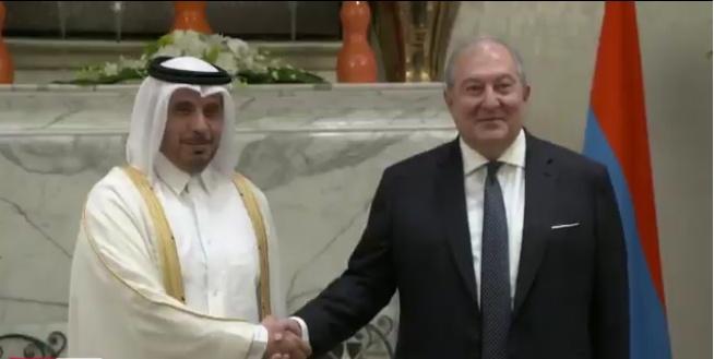 Արմեն Սարգսյանն այսօր հանդիպել է Կատարի վարչապետի հետ