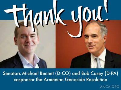 Եվս 2 սենատոր աջակցել է Հայոց ցեղասպանության ճանաչման բանաձեւին