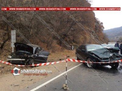 Խոշոր վթար Տավուշում. «Գետափ» ռեստորանի մոտ ճակատ-ճակատի բախվել են BMW-ն ու Volkswagen Passat-ը.կա 4 վիրավոր