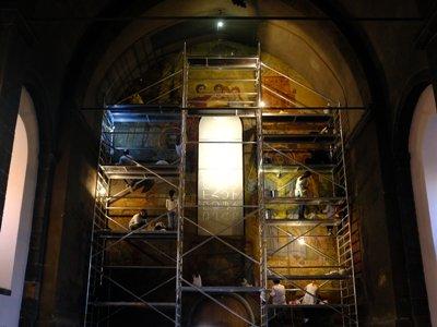 Օշականի Սուրբ Մեսրոպ Մաշտոց եկեղեցու «Փառք հայ գրի և դպրության» որմնանկարը վերականգնվում է