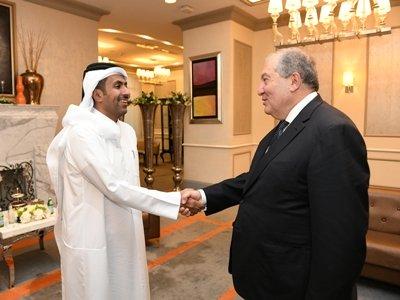 Արմեն Սարգսյանը ՀՀ-ի հետ համագործակցության հեռանկարներն է քննարկել Կատարի ներդրումային հիմնադրամի ներկայացուցիչների հետ