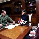 Տոնոյանը ԿԽՄԿ ներկայացուցչի հետ քննարկել է Ադրբեջանում գերեվարված Արայիկ Ղազարյանի և Կարեն Ղազարյանի հարցերը