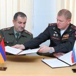 Քննարկվել են Հայաստանի եւ Ռուսաստանի ԶՈՒ-երի միջեւ ռազմական ոլորտում տեղեկատվության փոխանակման հարցեր