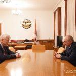 Բակո Սահակյանը ընդունել է ԵԱՀԿ գործող նախագահի անձնական ներկայացուցիչ, դեսպան Անջեյ Կասպշիկին
