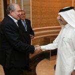 Արմեն Սարգսյանը Դոհայում հանդիպել է «Կատար Էյրվեյզ» ընկերության գործադիր տնօրեն Աքբար Ալ Բակերի հետ