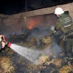 Արագածոտնի մարզի Ավշեն գյուղի 3-րդ փողոցի տներից մեկի մոտակայքում այրվում է կուտակած անասնակեր