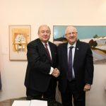 Արմեն Սարգսյանը հանդիպել է Իսրայելի Պետության նախագահ Ռեուվեն Ռիվլինի հետ