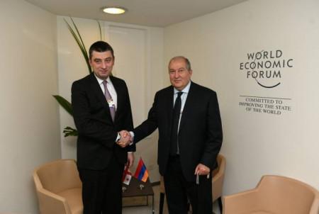 Արմեն Սարգսյանը հանդիպել է Վրաստանի վարչապետ Գեորգի Գախարիայի հետ