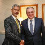 Հայաստանի եւ Հնդկաստանի ԱԳ նախարարներն միջազգային ու տարածաշրջանային օրակարգի հրատապ հարցեր են քննարկել