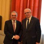 Զոհրաբ Մնացականյանն հանդիպել է Պաղեստինի ԱԳ նախարար Ռիյադ ալ Մալիքիի հետ