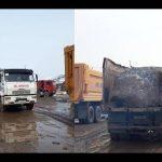 Ոստիկանները մի ընկերության 20 բեռնատար են գտել չսահմանված վայրում շինաղբ դատարկելիս